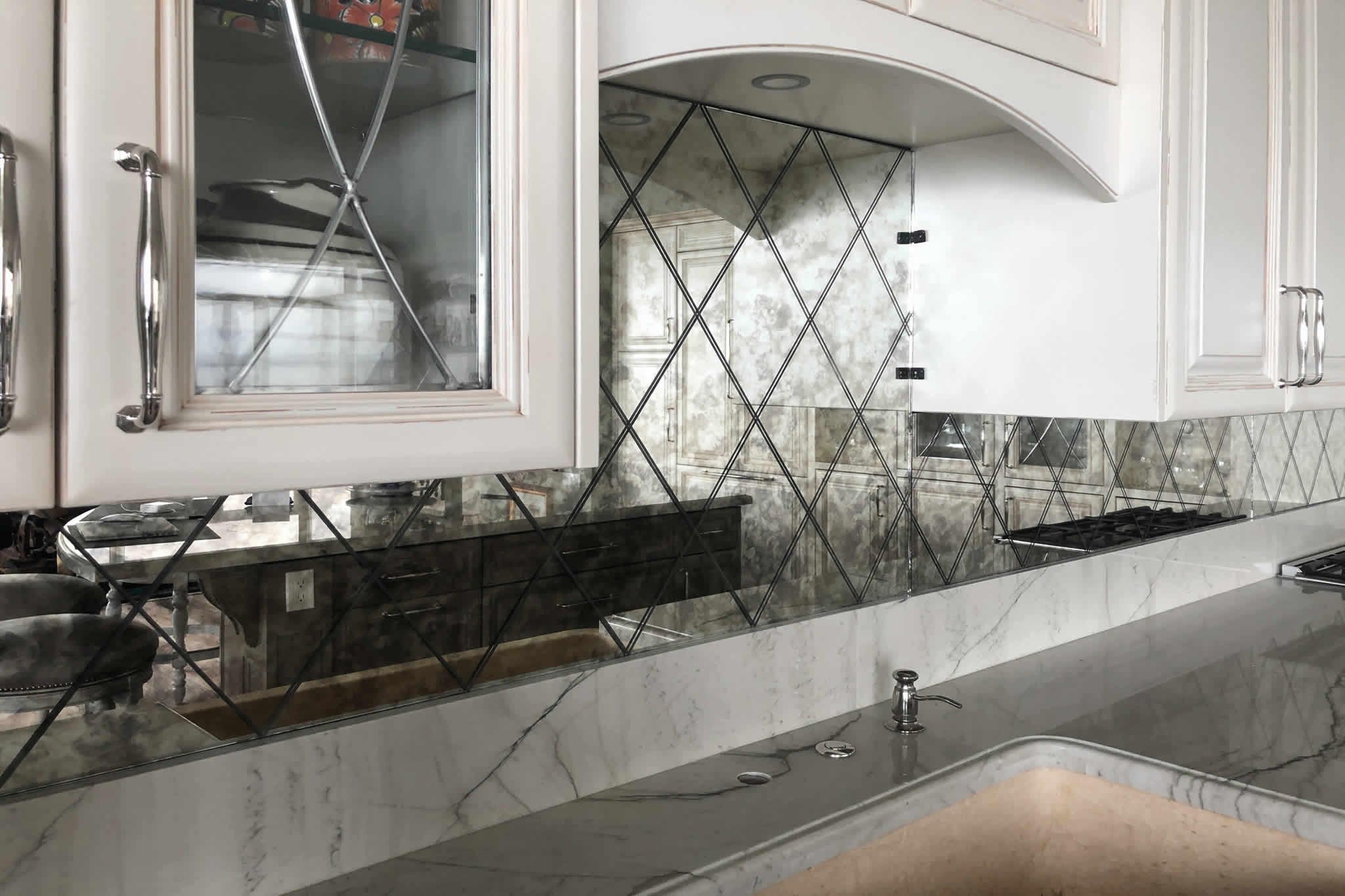 Antiqued Mirror Glass Tiles and Panels For That Vintage Mirror Look